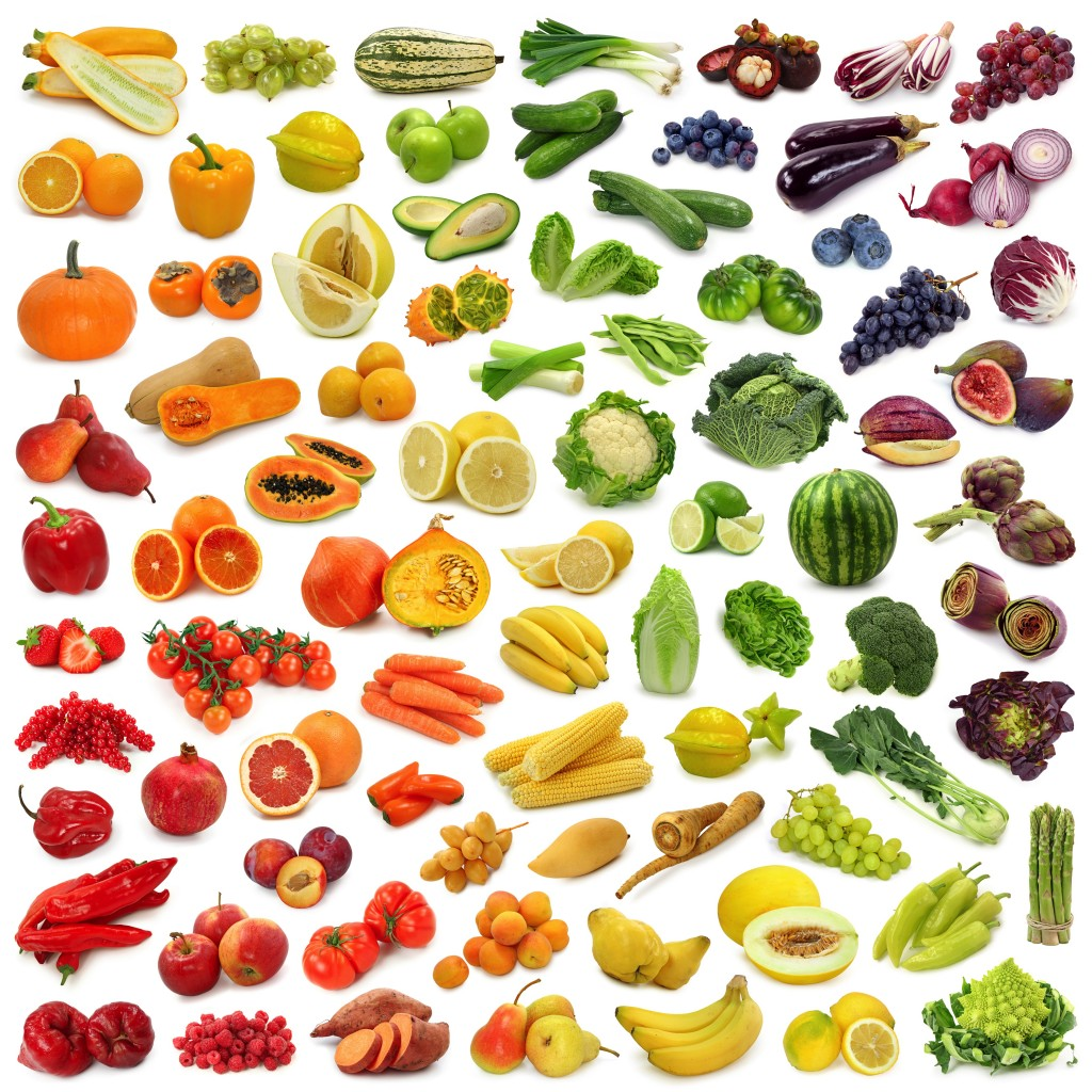 Healthy fruit and vegetable